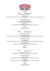 hjb s set menus
