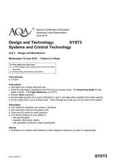 aqa syst3 questionpaper 2010