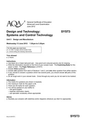 aqa syst3 questionpaper 2012