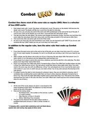 combat uno rules
