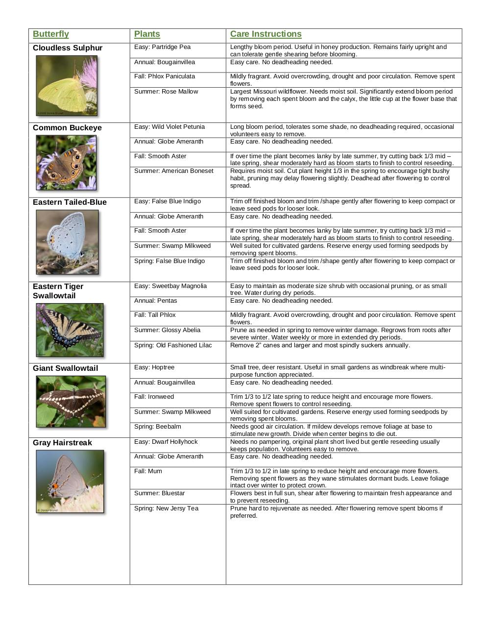 Document preview butterfly garden guide easy.pdf - page 2/4