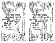 PDF Document coloring page invitation flyer