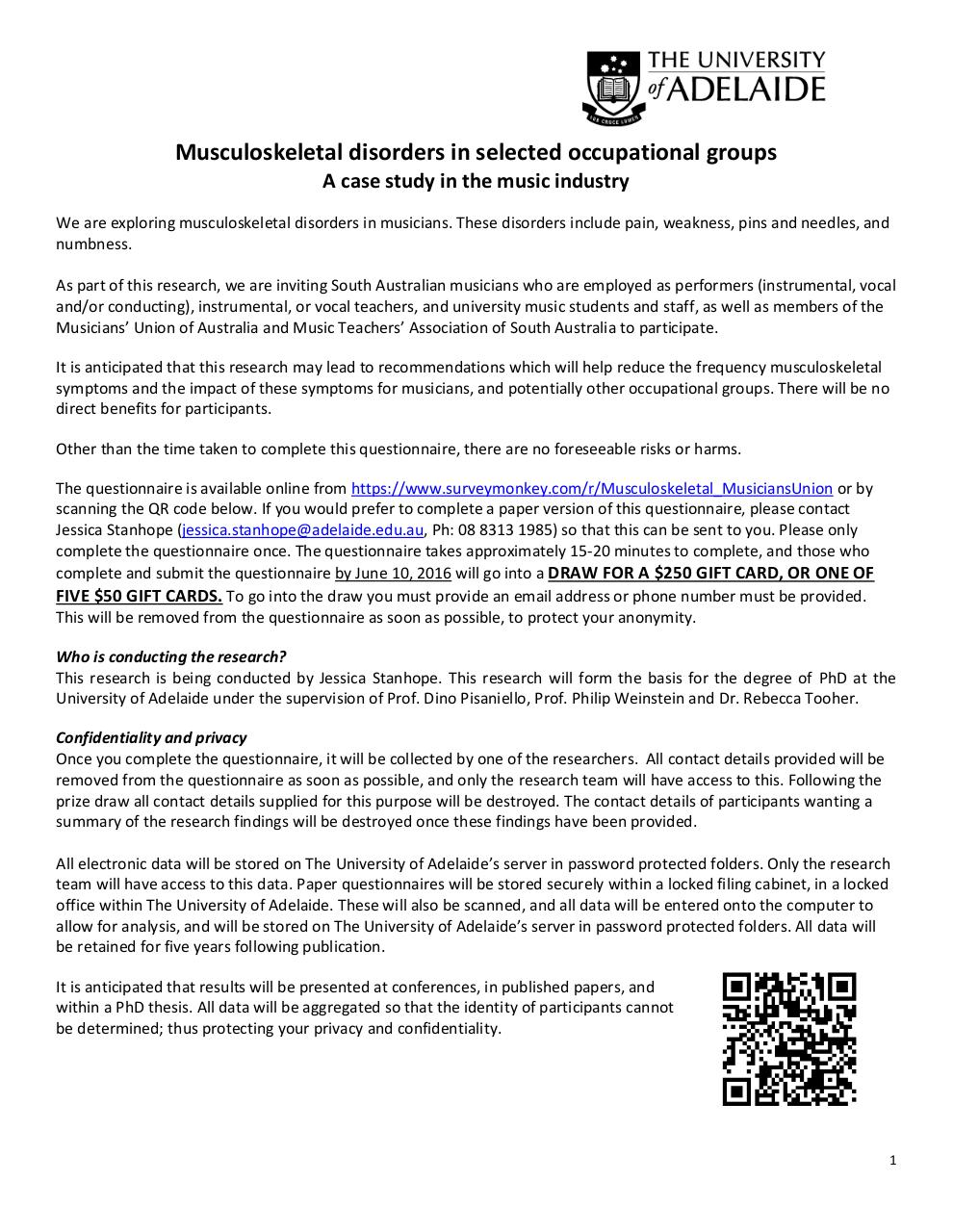 Information Sheet Musicians Union.pdf - page 1/2