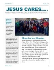 jesus cares volumn 1 issue 1