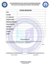 PDF Document uyelik formu