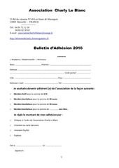 bulletin d adhesion 2016