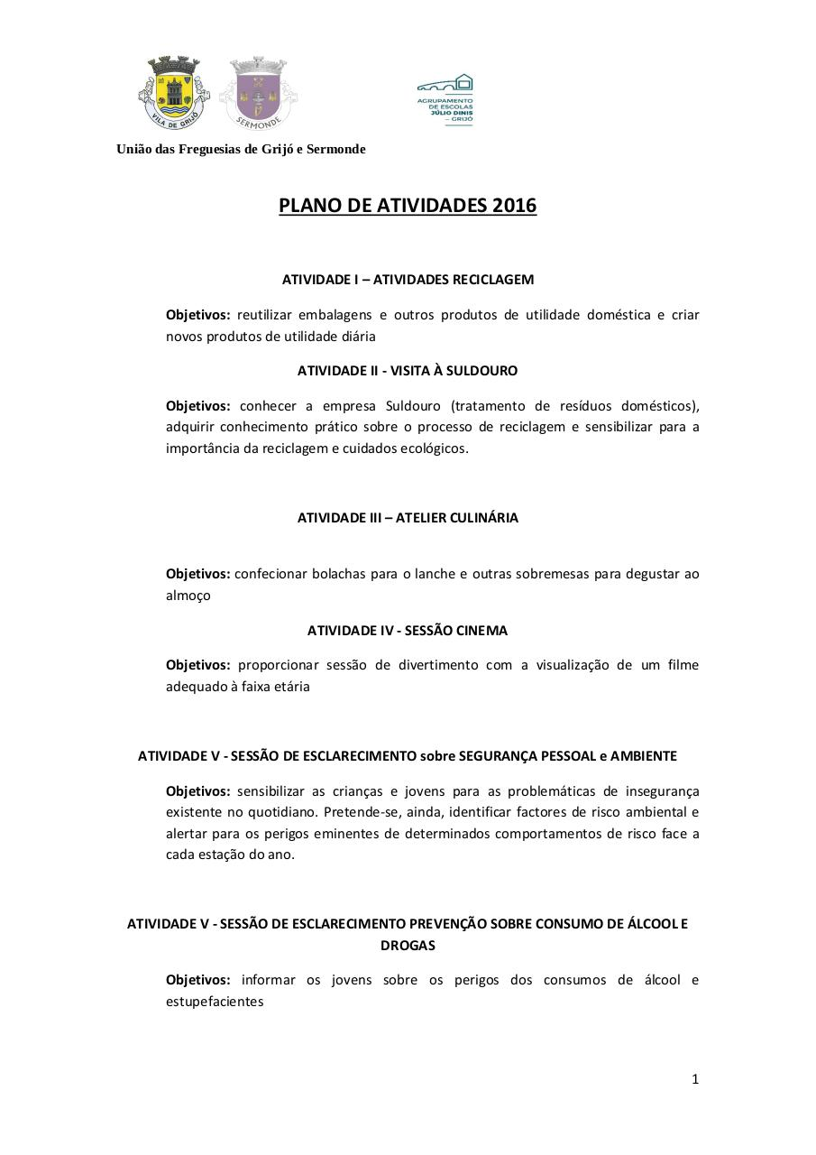 Document preview Plano Atividades.pdf - page 1/4