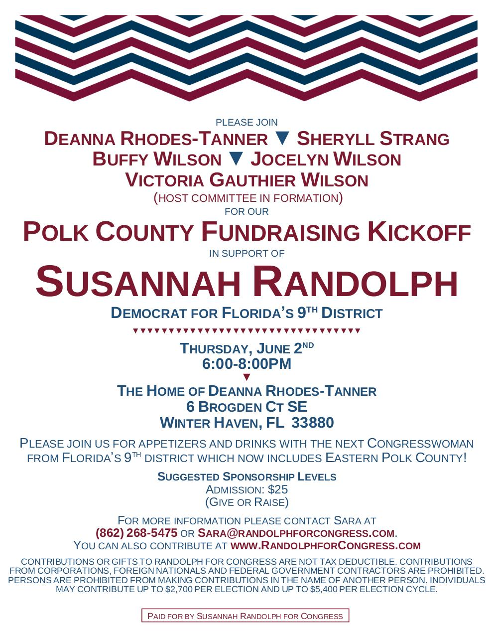 Document preview Susannah Randolph for Congress Fundraiser - June 2nd.pdf - page 1/1