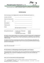 PDF Document aufnahmeantrag ab 2015
