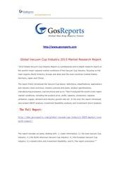 global vacuum cup industry