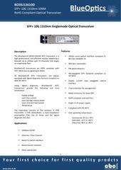 blueoptics bo35j13610d 10gbase lr sfp transceiver 1310nm