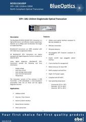 blueoptics bo35j13610dp 10gbase lr sfp transceiver 1310nm
