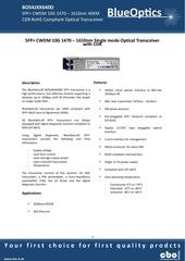 blueoptics bo54jxx640d 10gbase cwdm cdr sfp transceiver