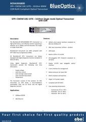 blueoptics bo54jxx680d 10gbase cwdm cdr sfp transceiver