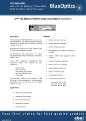 blueoptics bo55j33640d 10gbase bx d sfp transceiver 40km