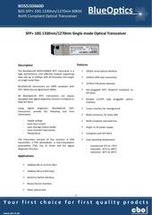 blueoptics bo55j33660d 10gbase bx d sfp transceiver 60km