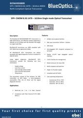 blueoptics bo56hxx680d 8gbase cwdm sfp transceiver