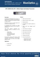 blueoptics bo56jxx610d 10gbase cwdm sfp transceiver