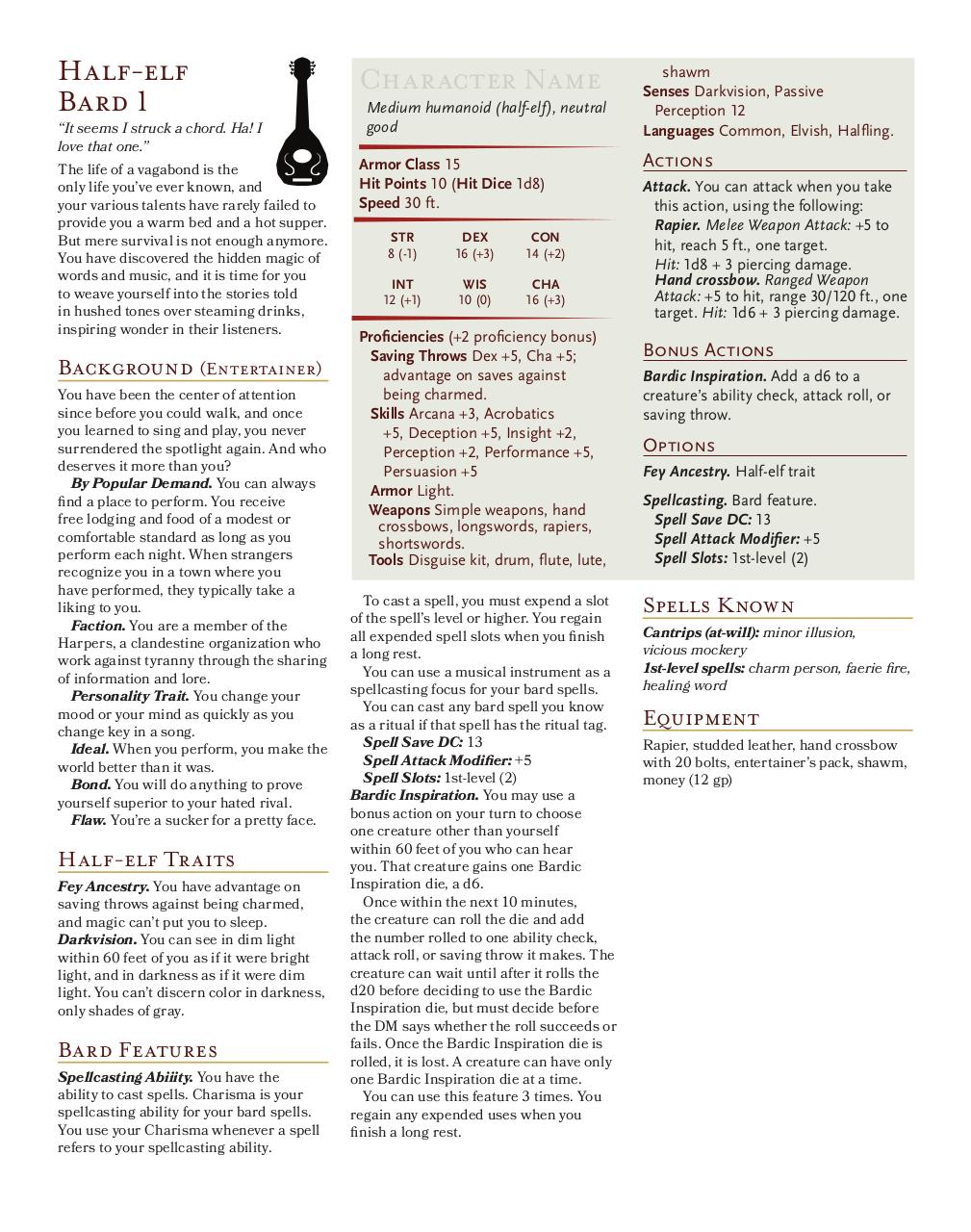 Document preview Half-elf Bard 1.pdf - page 1/1