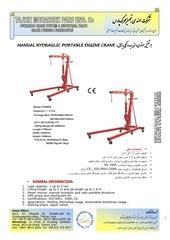 manual hydraulic engine cranes 1p