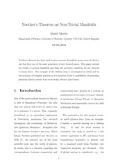 noether s theorem on non trivial manifolds by daniel martin