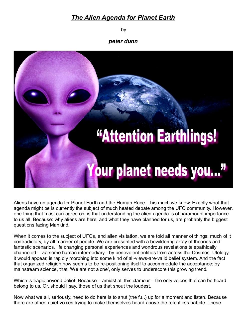 The Alien Agenda for Planet Earth.pdf - page 1/6