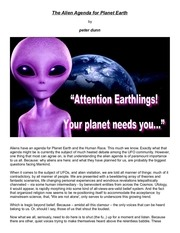 the alien agenda for planet earth