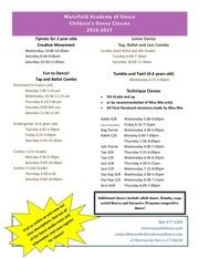 class schedule 2016 2017