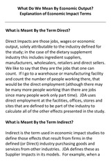 what do we mean by economic output
