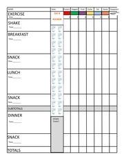 PDF Document diet 21 day fix updated form