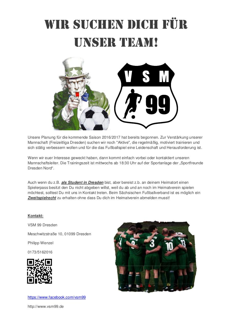 Document preview We want you for VSM99.pdf - page 1/1