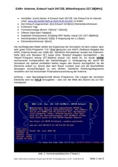 dab antenne 6 element entwurf nach dk7zb ya simulation