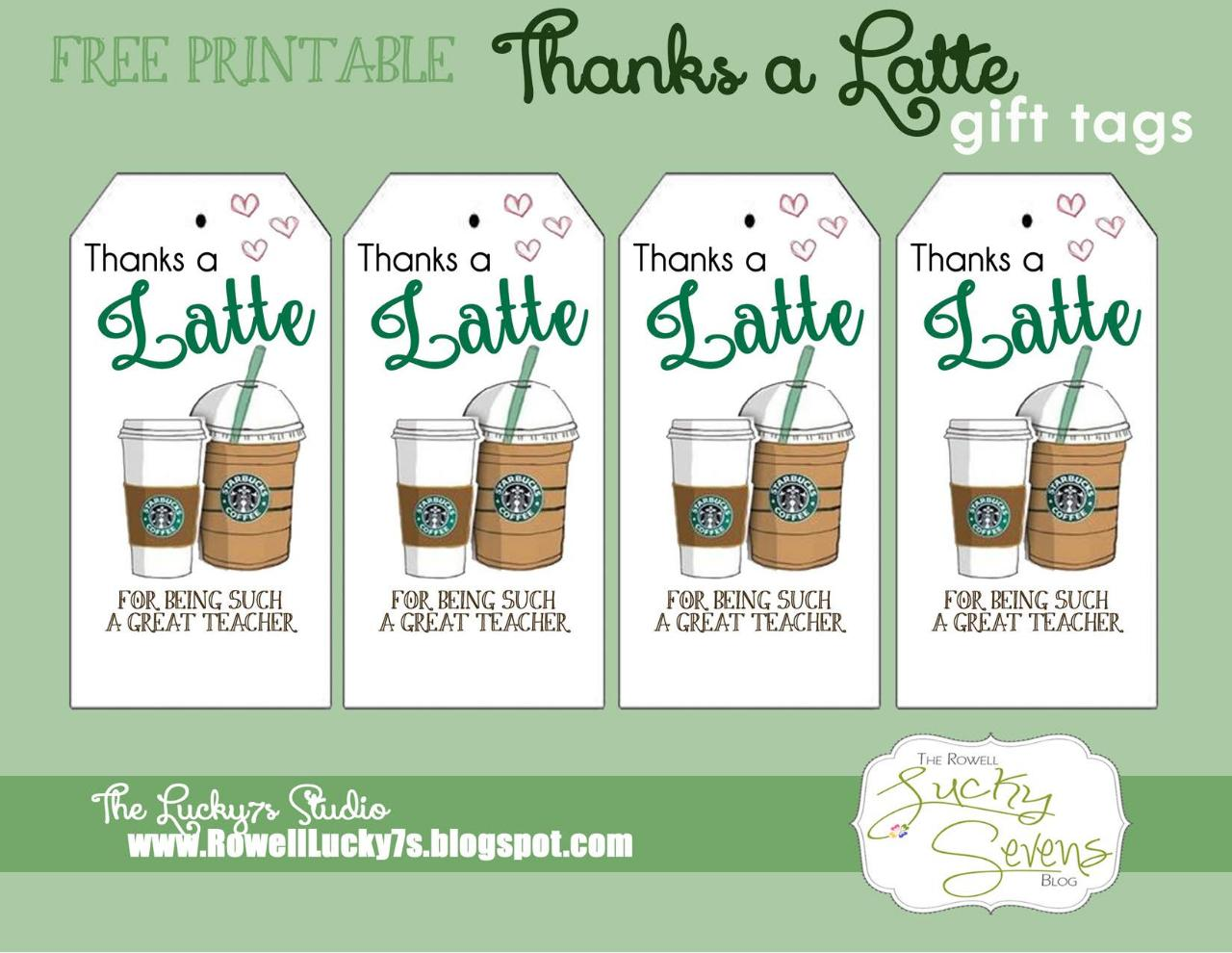 graphic about Thanks a Latte Printable named latte because of free of charge printable - PDF Archive