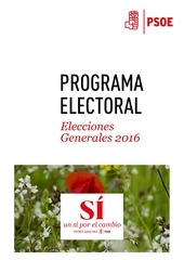 psoe programa electoral 2016