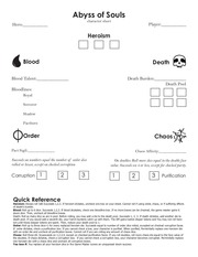 abyss character sheet alternate 2