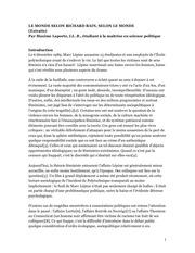 PDF Document recherche le monde selon richard bain