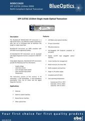 blueoptics bo05d13620 sfp transceiver 1310nm 20km