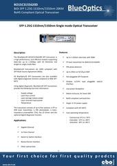 blueoptics bo15c3155620d sfp bidi transceiver