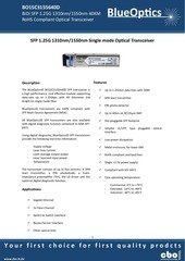 blueoptics bo15c3155640d sfp bidi transceiver