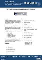 blueoptics bo15c31556c0d sfp bidi transceiver