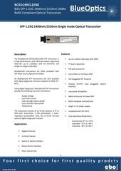 blueoptics bo15c4931220d sfp bidi transceiver