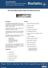 blueoptics bo15c4955640d sfp bidi transceiver 1000base bx u