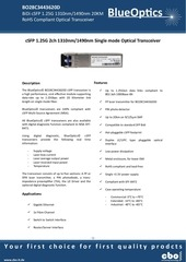 blueoptics bo28c3443620d 1000base 2bx u csfp