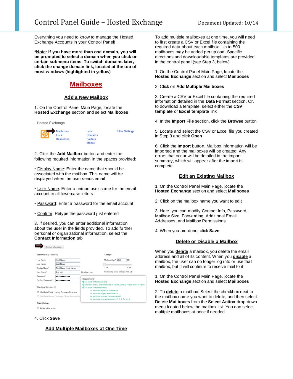 Preview of PDF document control-panel-guide-hosted-exchange.pdf