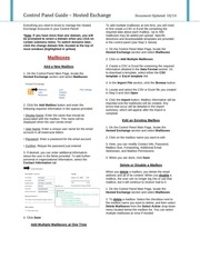 PDF Document control panel guide hosted exchange