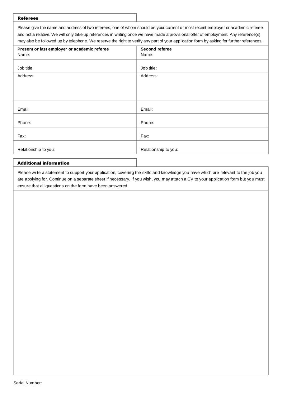 preview of pdf document general employment application form