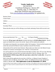 PDF Document fall fest vendor application