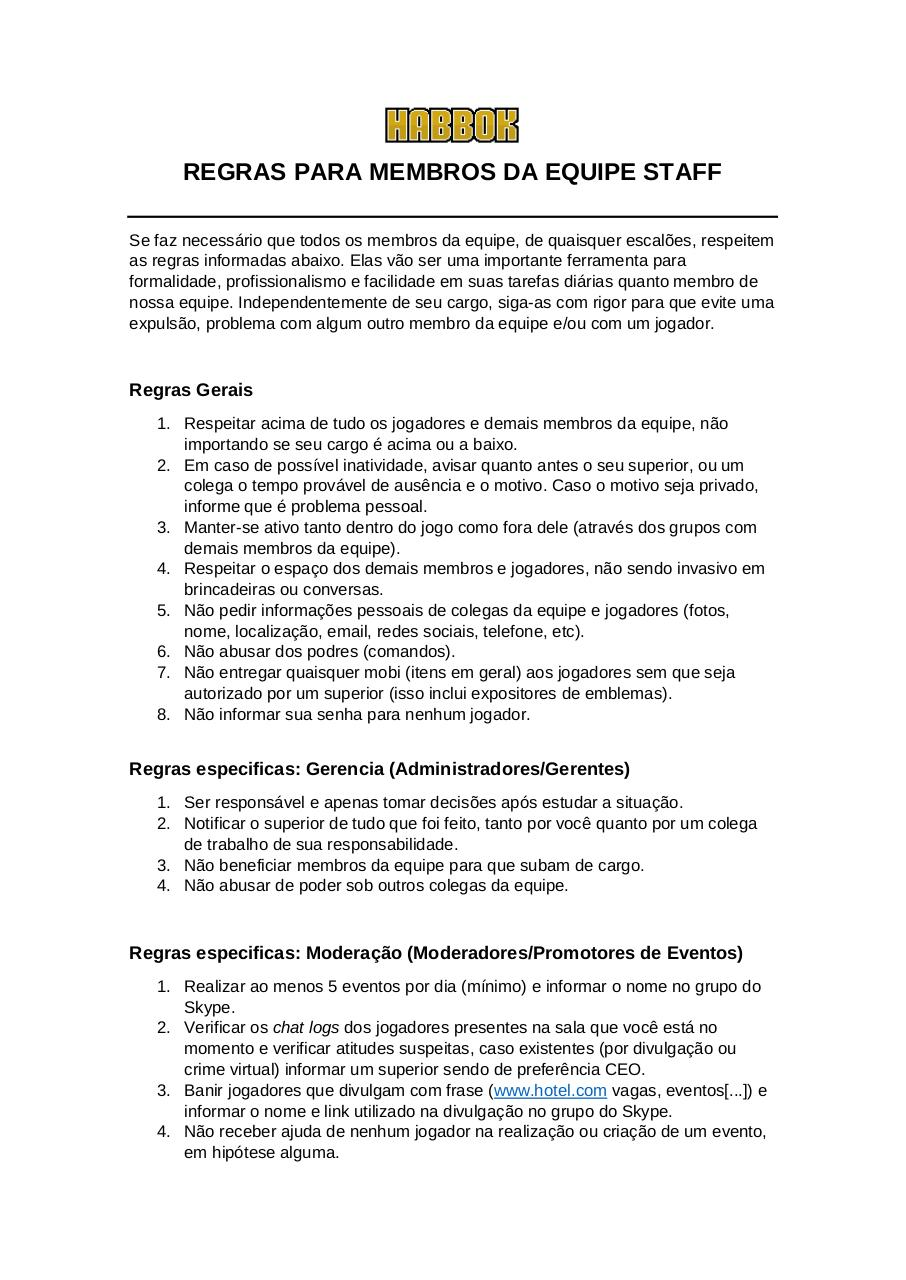 Document preview Regras para Staffs.pdf - page 1/1