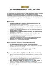 PDF Document regras para staffs