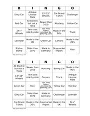 PDF Document boring cars bingo